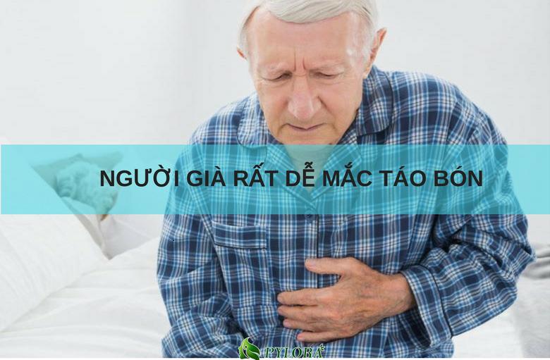 Người già rất dễ mắc bệnh táo bón