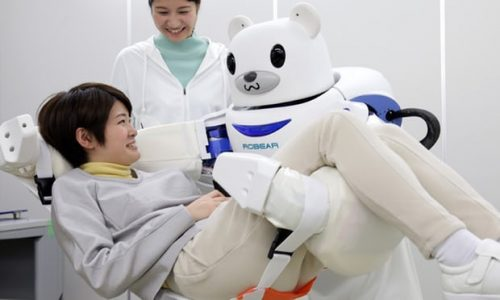 Tại Nhật robot sẽ trực tiếp chăm sóc người già