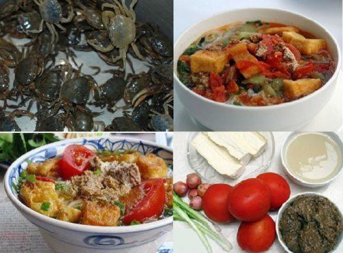 Để nấu được món bún riêu cua cần chuẩn bị đầy đủ nguyên liệu